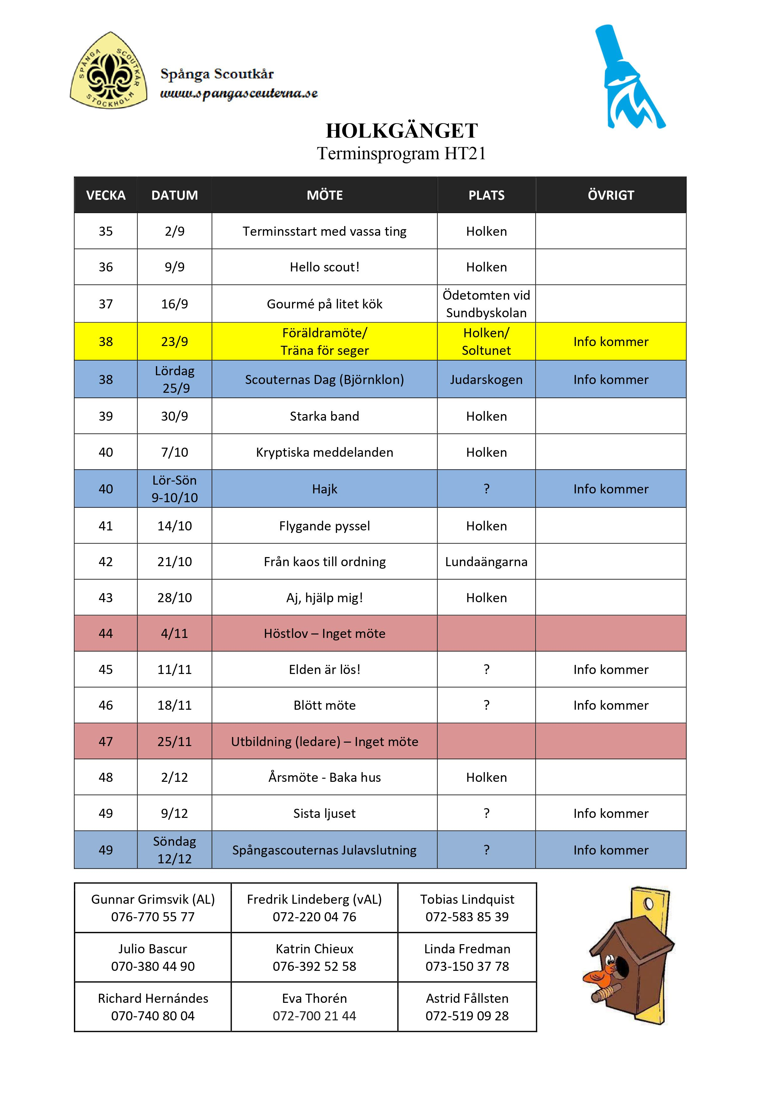 HT21 Terminsprogram Holkgänget scouterna version